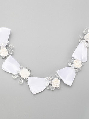 Women's / Flower Girl's Crystal / Alloy / Polyester Headpiece-Wedding / Special Occasion Headbands 1 Piece White Round