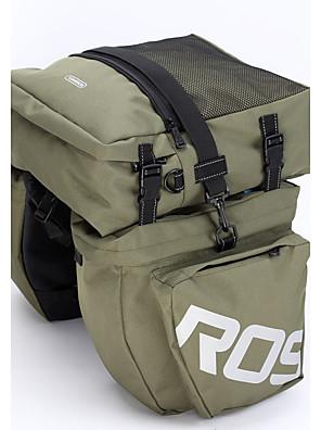 ROSWHEEL® Bolsa de Bicicleta 37LMala para Bagageiro de Bicicleta/Alforje para Bicicleta / Bolsa de OmbroÁ Prova-de-Água / Camurça de Vaca