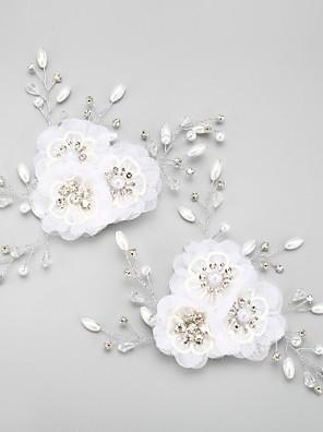נשים / נערת פרחים ריינסטון / סגסוגת / שיפון כיסוי ראש-חתונה / אירוע מיוחד פרחים 2 חלקים