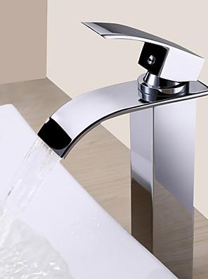 Sprinkle® Badeværelseshaner  ,  Moderne  with  Krom Enkelt Håndtag Et Hul  ,  Feature  for Vandfald