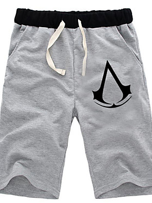 קיבל השראה מ Assassin's Creed Altair אנימה תחפושות קוספליי חולצות קוספליי / תחתון אחיד שחור / אפור מכנסיים קצרים
