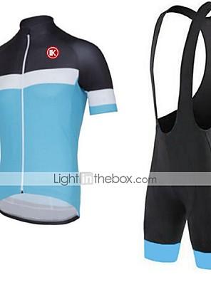 KEIYUEM® חולצת ג'רסי ומכנס קצר ביב לרכיבה יוניסקס שרוול קצר אופנייםנושם / ייבוש מהיר / עמיד לאבק / לביש / דחיסה / כיס אחורי / נמתח / תומך