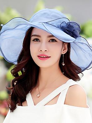 כובע עם שוליים רחבים נשים וינטאג' / חמוד / יום יומי,כותנה / תחרה חורף / קיץ