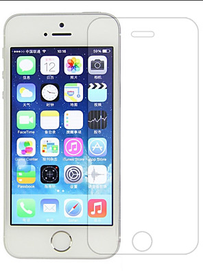 zxd 0.3mm super dunne gehard glas voor iphone5 transparante screen protector voor de iPhone 5 / 5s met schoon gereedschap