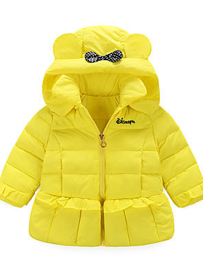 Girl's Casual/Daily Print Down & Cotton Padded,Cotton / Polyester Winter / Fall Pink / Purple / Red / Yellow