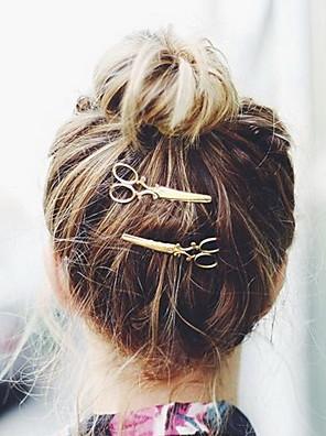 נשים סגסוגת כיסוי ראש-אירוע מיוחד / קז'ואל / חוץ כומתה / קליפס לשיער / סיכת שיער 2 חלקים