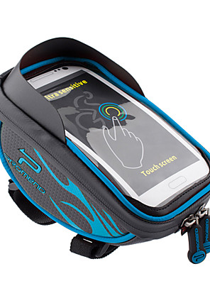 Promend® Bolsa de Bicicleta 1.5Zíper á Prova-de-Água / Lista Reflectora / Camurça de Vaca á Prova-de-Choque / Vestível / Multifuncional /