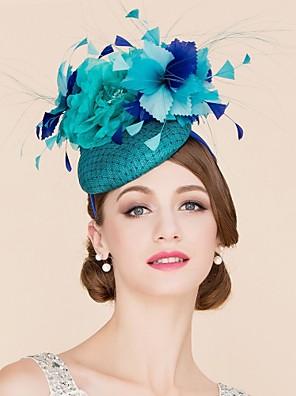 נשים / נערת פרחים נוצה / פשתן / רשת כיסוי ראש-חתונה / אירוע מיוחד / קז'ואל קישוטי שיער / כובעים חלק 1
