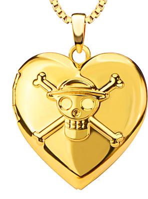 Anhæng Metal Heart Shape guld 50