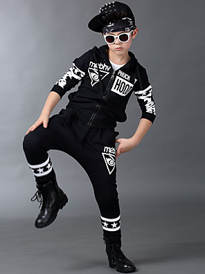 Boy's Cotton Spring/Autumn Hip-hop Fashion Print Sport Suit Long Sleeve Hoodie And Hallen Pants Tracksuit Two-piece Set