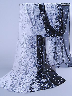 Žena Vintage / Roztomilý / Na běžné nošení Šifon Šátek,Obdélníkový Tisk