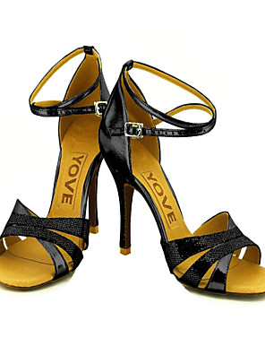 szabott női szikrázó csillogás boka pánt latin / bálterem tánc cipő (több szín)
