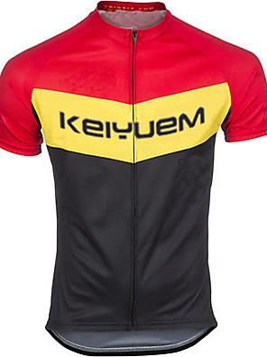 KEIYUEM® חולצת ג'רסי לרכיבה לנשים / לגברים / יוניסקס שרוול קצר אופנייםעמיד למים / נושם / ייבוש מהיר / עיצוב אנטומי / מוגן מגשם / רוכסן