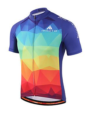 Miloto® חולצת ג'רסי לרכיבה לנשים / לגברים / לילדים / יוניסקס שרוול קצר אופנייםנושם / ייבוש מהיר / חדירות ללחות / רוכסן קדמי / רוכסן YKK /