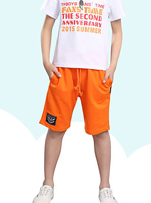Boy's Casual/Daily Solid PantsRayon Summer Black / Blue / Orange