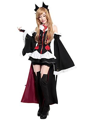 Cosplay Kostýmy / Kostým na Večírek Duch / Zombie / Upír Festival/Svátek Halloweenské kostýmy Černá RetroŠaty / Ponožky / Doplňky do