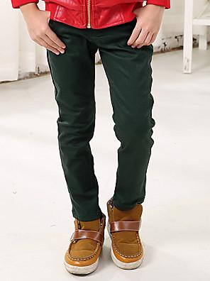 Boy's Cotton Spring/Autumn Solid Color Fashion Casual Long Pants