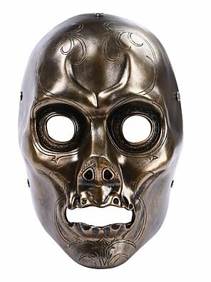 Maska cosplay Festival/Svátek Halloweenské kostýmy Černá Jednobarevné Maska Halloween / Karneval Unisex Pryskyřice