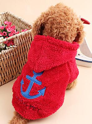 חתולים / כלבים קפוצ'ונים Red / כחול / לבן / אפור / ורד בגדים לכלבים חורף / קיץ/אביב מלחים חמוד / Keep Warm