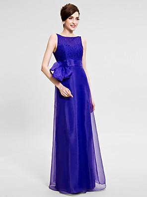 Lanting Bride® Mořská panna Šaty pro matku nevěsty Na zem Bez rukávů Organza - Krajka