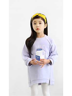Girl's Casual/Daily Solid Hoodie & SweatshirtCotton Winter / Spring / Fall Pink / Purple