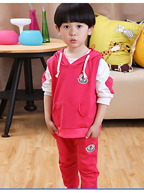 Boy's Casual/Daily Solid Clothing SetCotton Spring Brown / Pink / Beige