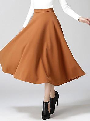 Damen Röcke - Aktiv Midi Baumwolle Mikro-elastisch