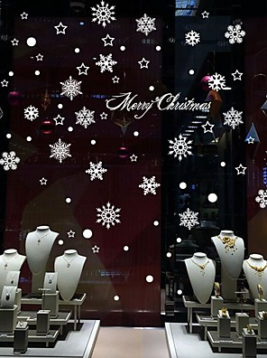 Kerstmis / Cartoon Wall Stickers Vliegtuig Muurstickers Decoratieve Muurstickers / Bruiloftsstickers,PVC MateriaalVerwijderbaar /