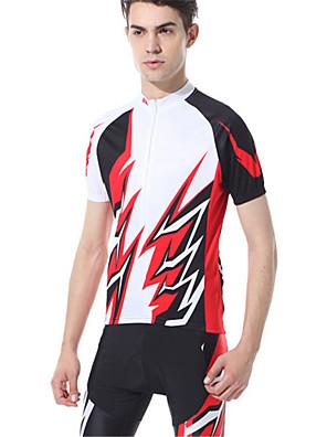 ספורטיבי חולצת ג'רסי ומכנס קצר לרכיבה לגברים שרוול קצר אופניים נושם / נוח / קרם הגנה / דחיסה מדים בסטים סיבי במבוק פחמן קלאסי קיץכושר