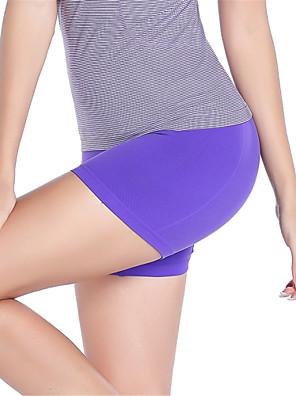 מכנסיים יוגה מכנסיים קצרים / מכנסיים קצרים הלבשה תחתונה / תחתיות נושם / ייבוש מהיר / דחיסה / נוח נשמט גמישות גבוהה בגדי ספורטאדום / שחור