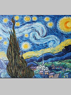 Kézzel festett Absztrakt / Híres Egy elem Vászon Hang festett olajfestmény For lakberendezési