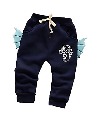 Baby Casual/Daily Print PantsCotton Winter Blue / Green / Pink / Purple