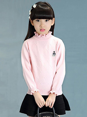 Girl's Casual/Daily Embroidered Sweater & CardiganCotton Winter / Spring / Fall Pink / Red / White