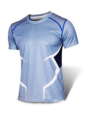 ריצה סווטשירט / טי שירט לגברים שרוול קצר נושם / ייבוש מהיר / רצועות מחזירי אור / תומך זיעה / נוח אלסטיין / LYCRA® ריצה ספורטיבי בגדי ספורט