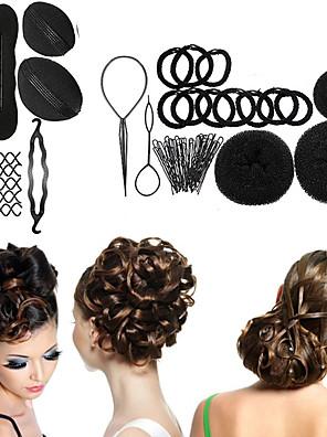 8 típusú magic braiders bud fej gömbfej lemez fánk étel haj fodrász eszközök női haj tartozékok