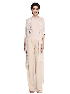 2017 Lanting bride® plášť / sloupec matka nevěsty šaty - elegantní kotník-délka 3/4 délka rukávu šifón s