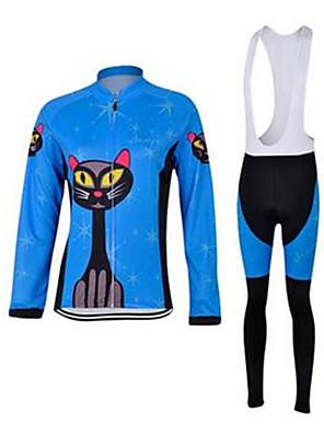 Esportivo Camisa com Calça Bretelle Crianças / Unissexo Manga Comprida MotoRespirável / Secagem Rápida / A Prova de Vento / Design