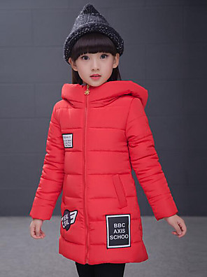 Girl's Casual/Daily Patchwork Down & Cotton Padded / Suit & BlazerPolyester Winter Blue / Purple / Red