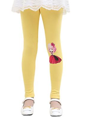 Girl's Casual/Daily Solid LeggingsCotton Fall Black / Yellow / Gray