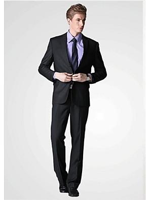 2017 obleky standardní fit zářez jednotlivé prsy dvě tlačítka viskózové pevné 2ks černá šikmá třepotal