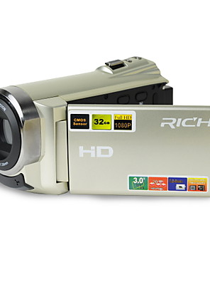 1080p / 15fps Full HD videokamera 16.0mp a 3.0inch LCD érintőképernyő dual kártyahely (TF / SD) videókamera (HDV-501.)
