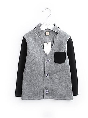 Boy's Casual/Daily Solid Jacket & CoatCotton Spring / Fall Gray