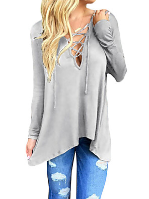 Women's Plus Size / Going out / Casual/Daily Sexy / Vintage / Street chic Spring / Fall T-shirt