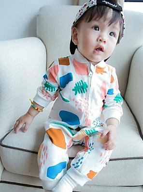 Baby Tøjsæt Bomuld Trykt mønster Casual/hverdag-Forår-Hvid