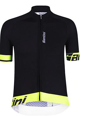 ספורטיבי חולצת ג'רסי לרכיבה לגברים שרוול קצר אופניים ייבוש מהיר / חומרים קלים / מפחית שפשופים / חיכוך נמוך ג'רזי כותנה קלאסי / אופנתיסתיו