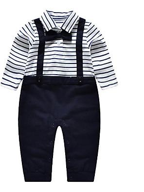 Baby Tøjsæt Bomuld Stribet Casual/hverdag-Forår / Efterår-Blå