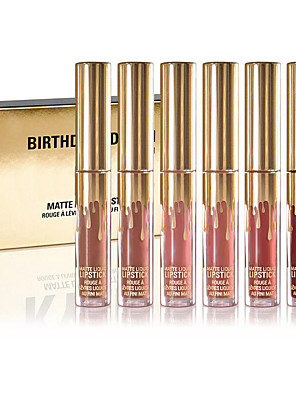 Gloss Labial Mate Liquido Longa Duração Multi Cores 1set Others/Others