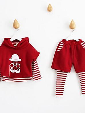 סט של בגדים יום יומי\קז'ואל דפוס כותנה אביב / סתיו צבעוני / אדום הילדה של