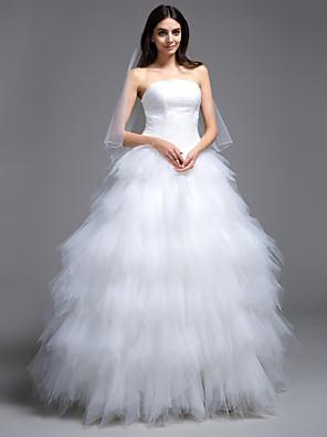 Lanting Bride® Plesové šaty Drobná / Nadměrné velikosti Svatební šaty - Klasické & nadčasové / Okouzlující & dramatické Dlouhá vlečkaBez