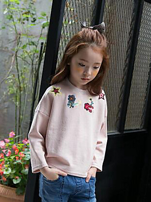 Girl's Casual/Daily Print Hoodie & SweatshirtCotton Winter / Fall Pink / Beige